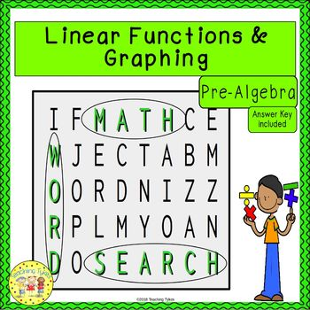 Linear Functions and Graphing Word Search