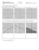Linear Functions and Inequalities Test - Two Versions, w/ Answer Key (Editable)