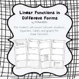 Linear Functions in Different Forms