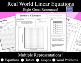 Linear Functions Word Problems:  Multiple Representations