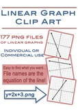 Linear Graph Clip Art - 177 png files