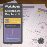 Straight Line Graphs & Equations Printables & Worksheets UK