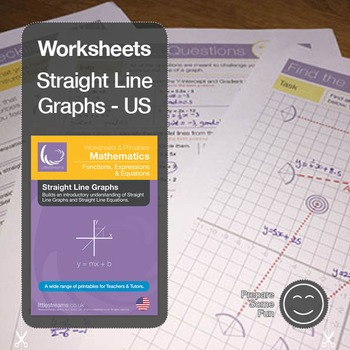 Straight Line Graphs & Equations Printables & Worksheets US by ...