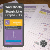 Straight Line Graphs & Equations Printables & Worksheets US
