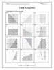 Linear Inequalities: Graphing Linear Inequalities and Systems (Bundle)