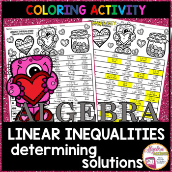 Valentine's Day Algebra Determining Solutions to Linear Inequalities