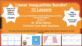 Linear Inequalities Bundle - Everything You Need!