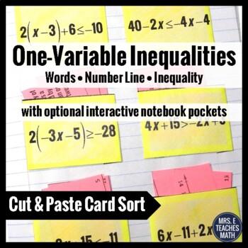 Linear Inequalities Card Sort