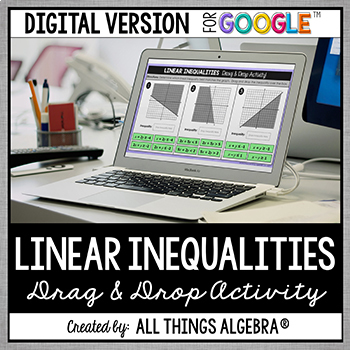 Linear Inequalities Drag & Drop Activity - GOOGLE SLIDES VERSION