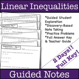 Graphing Linear Inequalities Guided Notes - 2 Days!