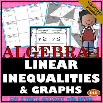 Linear Inequalities & Graphs Cut/Paste Activity with Notes