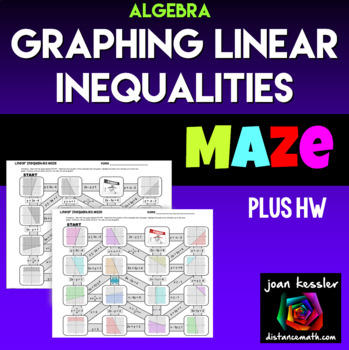Linear Inequalities Maze for Algebra plus Homework