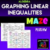Graphing Linear Inequalities Maze for Algebra plus Homework