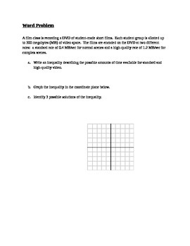 Linear Inequalities Note Guide
