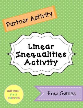 Linear Inequalities Partner Activity