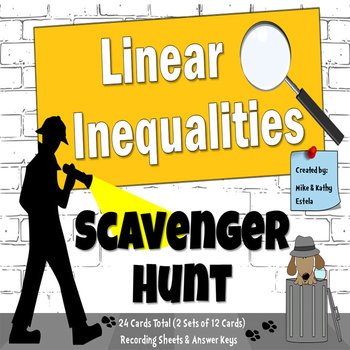 Linear Inequalities {Scavenger Hunt}