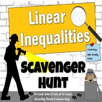 Linear Inequalities {Scavenger Hunt}
