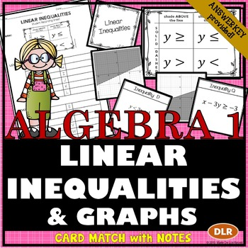 Linear Inequalities Card Match with Notes