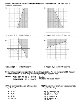 Linear Inequalities Test