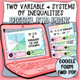 Linear Inequalities- Two Variable and Systems Task Cards (