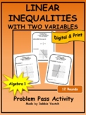 Linear Inequalities With Two Variables Problem Pass Activity