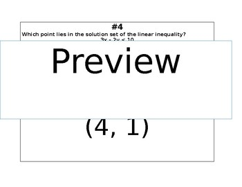 Linear Inequalities and System of Linear Inequalities Scavenger Hunt