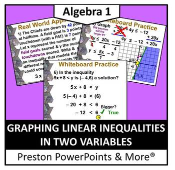 (Alg 1) Graphing Linear Inequalities in Two Variables in a