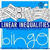Linear Inequality Bingo, Matching & Card Sort