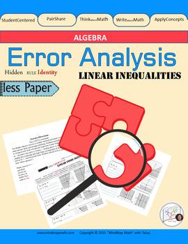 "Linear Inequality Error Analysis activity ""Hidden Rule Identity"""