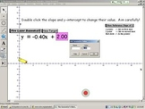 Linear Lazer Bazooka.gsp - Understanding y = mx + b dynamically, by CalfordMath