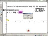 Linear Lazer Bazooka.gsp - Understanding y = mx + b dynami