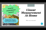 Linear Measurement At Home: Practice Measuring Objects in