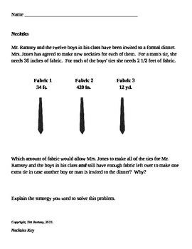 Linear Measurement - Group Problem Solving Activity