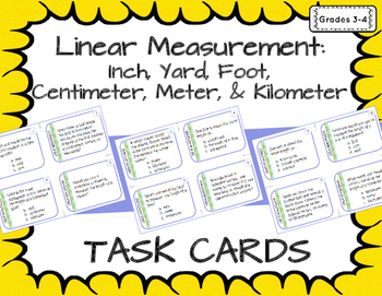 Linear Measurement: Inches, Yards, Feet, Centimeters, Meters, & Kilometers