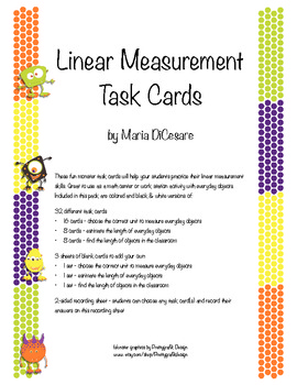 Linear Measurement Task Cards and Recording Sheet