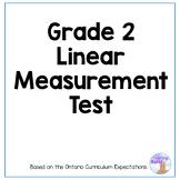 Linear Measurement Test for Grade 2 (Ontario Curriculum)