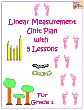 Linear Measurement Unit Plan with 5 Lessons