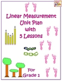 Linear Measurement Unit Plan with 5 Lessons