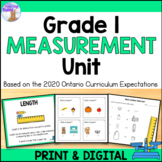 Linear Measurement Unit for Grade 1 (Ontario Curriculum)