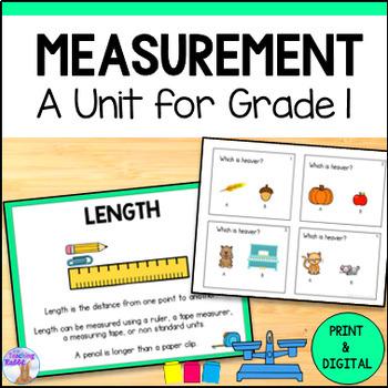 Linear Measurement Unit for Grade 1 (Ontario Curriculum)