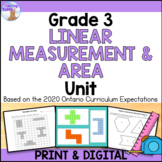 Linear Measurement & Area Unit (Grade 3) - Distance Learning