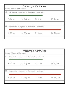 Linear Measures and Area Skills Review Packet {Common Core Concepts}