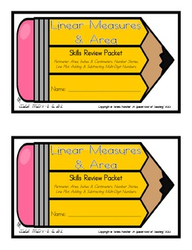 Linear Measures and Area Skills Review Packet {Common Core