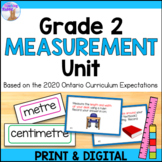 Linear Measurement Unit for Grade 2 (Ontario Curriculum)