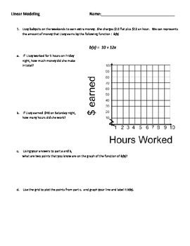 Linear Modeling - Algebra 1