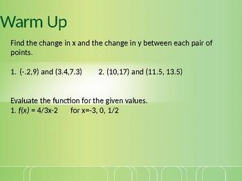 Linear Models Powerpoint