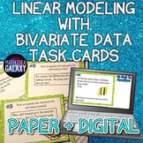 Linear Models with Bivariate Data Task Cards