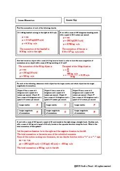 Linear Momentum Homework