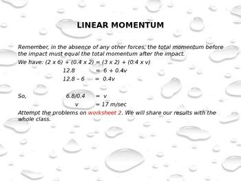 Linear Momentum Year 10