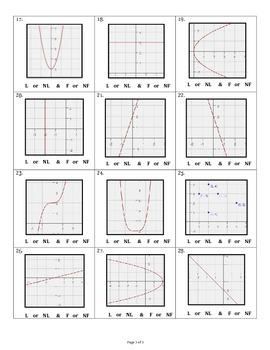 Linear & Nonlinear Relations